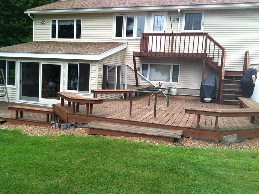 Deck Remodel Before