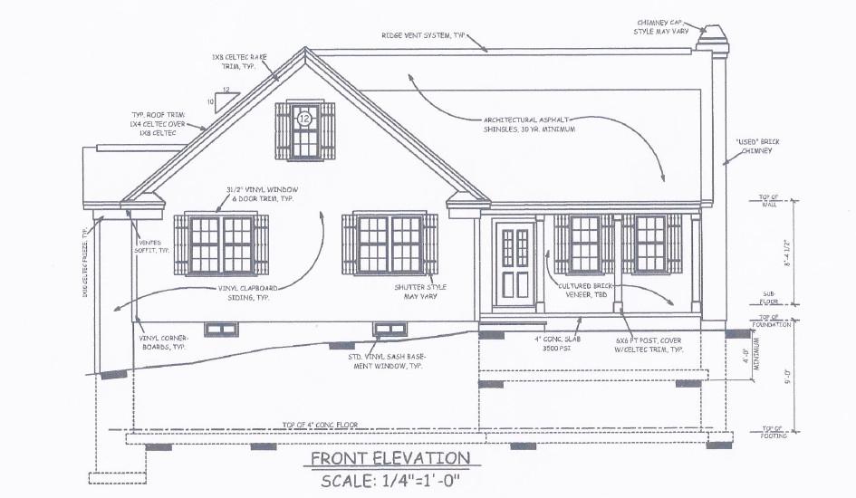Custom Homes - Front Elevation